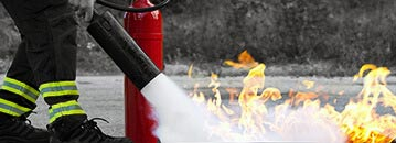 Fire safety training or maintenance services