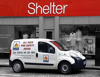 Fire and Safety Solutions working with Shelter