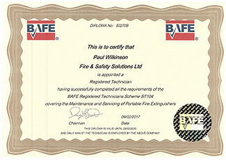 BAFE Approved Fire Technician