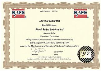 BAFE Approved Fire Technician