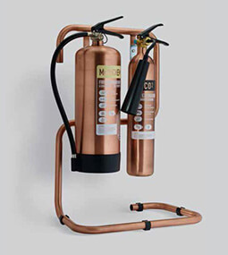 Brushed Antique Copper Fire Extinguishers